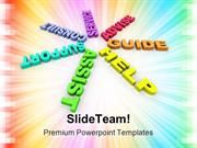 Help Support Guide Business PowerPoint Templates And PowerPoint Backgr