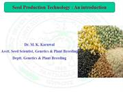 Lect-1 Introduction on seed production.