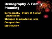 Demography & Family Planning
