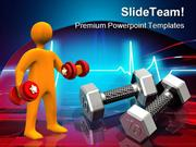 High Tech Work Out Health PowerPoint Templates And PowerPoint Backgrou