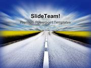 Highway To Success PowerPoint Templates And PowerPoint Backgrounds ppt
