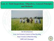 Lect 4 Field inspection-objective general pri.methods