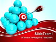 Hitting The Target Marketing PowerPoint Themes And PowerPoint Slides p