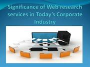 Web Research Services | Data Mining Services