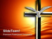 Holy Spirit Cross Religion PowerPoint Templates And PowerPoint Backgro
