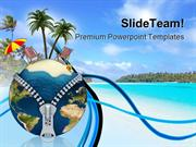 Holiday Vacation Beach PowerPoint Templates And PowerPoint Backgrounds