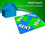 Home Puzzle Buy And Sell Real Estate PowerPoint Templates And PowerPoi
