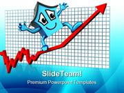 House Prices Up Real Estate PowerPoint Templates And PowerPoint Backgr