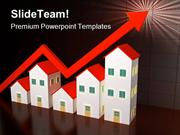 Houses On Sale Real Estate PowerPoint Templates And PowerPoint Backgro