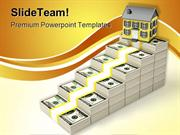 Houses Prices Rises Real Estate PowerPoint Templates And PowerPoint Ba