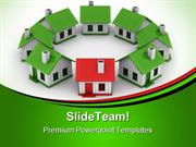 Houses Standing Real Estate PowerPoint Themes And PowerPoint Slides pp