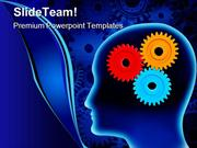 Human Brain With Gears Industrial PowerPoint Templates And PowerPoint
