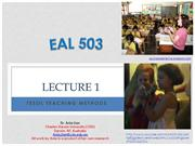 EAL 503 - Modules 1 and 2