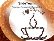 I Love Coffee Food PowerPoint Templates And PowerPoint Backgrounds ppt