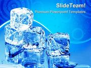 Ice Cubes Lifestyle PowerPoint Templates And PowerPoint Backgrounds pp