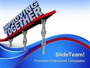 Improving Together Leadership PowerPoint Templates And PowerPoint Back