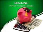 Increased Education Costs Money PowerPoint Templates And PowerPoint Ba