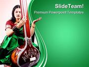 Indian Classical Singer Music PowerPoint Templates And PowerPoint Back