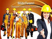 Industrial Workers Construction PowerPoint Templates And PowerPoint Ba