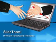 Information Technology Handshake PowerPoint Templates And PowerPoint B