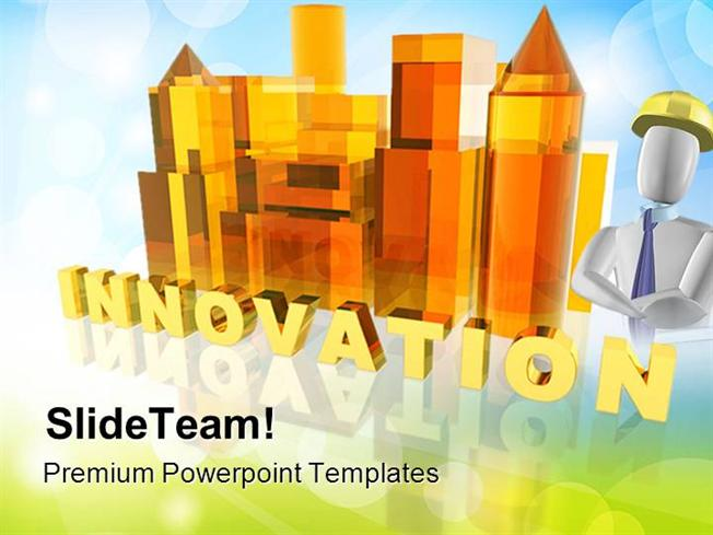 innovation construction powerpoint themes and powerpoint slides pp
