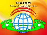 International Phone Communication PowerPoint Templates And PowerPoint