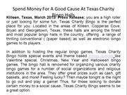 Spend Money For A Good Cause At Texas Charity Bingo Halls
