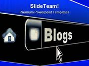 Internet Blogs Concept Computer PowerPoint Templates And PowerPoint Ba