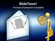 Internet Mail Computer PowerPoint Templates And PowerPoint Backgrounds