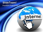 Internet On Globe Communication PowerPoint Templates And PowerPoint Ba
