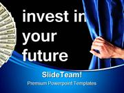 Investment For Future Money PowerPoint Templates And PowerPoint Backgr