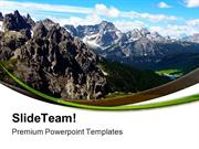 Italian Mountain Nature PowerPoint Templates And PowerPoint Background