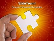 Jigsaw Puzzle Business PowerPoint Templates And PowerPoint Backgrounds