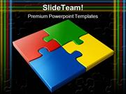 Jigsaw Puzzles Business PowerPoint Templates And PowerPoint Background