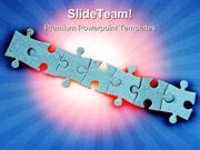 Jigsaw Puzzles Communication PowerPoint Templates And PowerPoint Backg