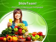 Juice Vegetables And Fruits Food PowerPoint Templates And PowerPoint B