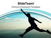 Jump Vacation PowerPoint Templates And PowerPoint Backgrounds ppt them