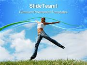 Jumping Girl Nature PowerPoint Templates And PowerPoint Backgrounds pp
