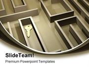 Key In Labyrinth Security PowerPoint Templates And PowerPoint Backgrou