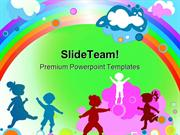 Kids And Rainbow Entertainment PowerPoint Templates And PowerPoint Bac