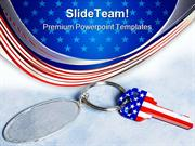 Key With Chain Americana PowerPoint Themes And PowerPoint Slides ppt d