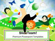 Kids Playing Holidays PowerPoint Templates And PowerPoint Backgrounds