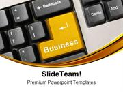 Keyboard With Business Communication PowerPoint Templates And PowerPoi