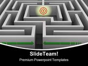 Labyrinth To Destination Business PowerPoint Templates And PowerPoint
