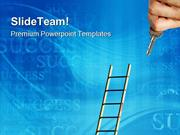 Ladder To Success Future PowerPoint Templates And PowerPoint Backgroun