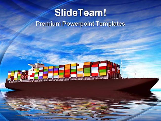 Large container ship transportation powerpoint templates and power large container ship transportation powerpoint templates and power authorstream toneelgroepblik Choice Image