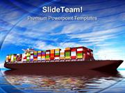 Large Container Ship Transportation PowerPoint Templates And PowerPoin