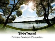 Lake And Sun Nature PowerPoint Templates And PowerPoint Backgrounds pp