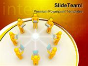 Laptop Network Internet PowerPoint Templates And PowerPoint Background