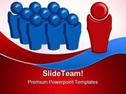 Leader And His Team Leadership PowerPoint Templates And PowerPoint Bac